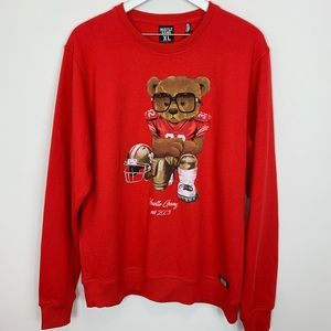 Hustle Gang Teddy Bear Sweatshirt NWT size XL